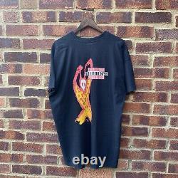 Vintage 1995 Single Stitch Rolling Stones Voodoo Lounge Tour T-shirt Graphique, XL
