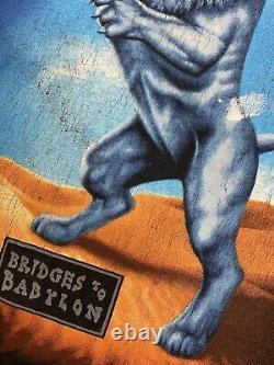 Vintage 1997 Rolling Stones Bridges To Babylon Tour T-shirt Size XL 90s Band Tee