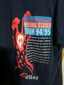 Vintage 2 Rolling Stones Voodoo Lounge 1994/95 Tournée De T-shirt Sz L