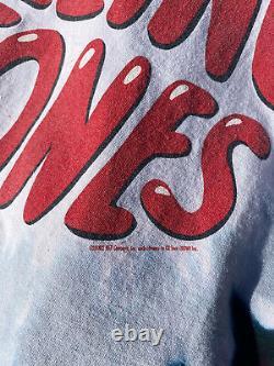 Vintage 2002 Rolling Stones Tie Bande De Teinture Tee Liquid Blue Pink Floyd Metallica