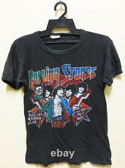 Vintage 70's 1978 The Rolling Stones Us Tour Concert Promo T-shirt Rock