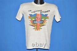Vintage 70s Rolling Stones 1975 Us Tour Tongue Airplane T-shirt Blanc Small S