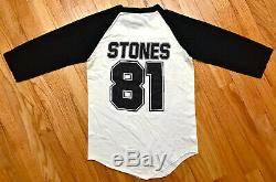 Vintage 80s 1981 The Rolling Stones Américaine Rock Concert Tour T-shirt Jersey S
