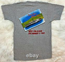 Vintage 80s 1981 The Rolling Stones New Orleans Rock Concert Tour T Shirt Sz S M
