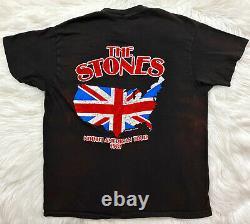 Vintage 80s 1981 The Rolling Stones North American Rock Concert Tour T Shirt L