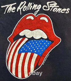 Vintage 80s 1981 The Rolling Stones North American Rock Concert Tour T Shirt Xs