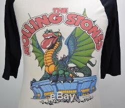 Vintage 80s Rolling Stones 1981 Seattle Space Needle Rock Tour T-shirt M Rare