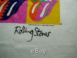 Vintage 80s Rolling Stones Steel Wheels Brockum Warhol T-shirt Sz XL 2xl Nouveau