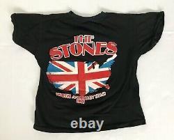 Vintage 80s Rolling Stones Tshirt Taille Moyenne Savoureux Tournée Nord-américaine
