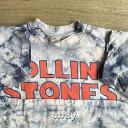Vintage 90'94 Rolling Stones Voodoo Lounge World Tour T Shirt Tie Dye L Rare