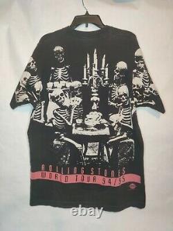 Vintage 90s Rolling Stones Voodoo Lounge Concert T-shirt All Over Print 1994