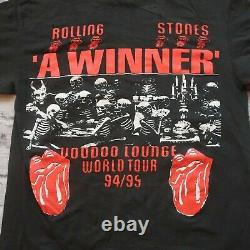 Vintage 90s Rolling Stones Voodoo Lounge Skeletons Tshirt Devil