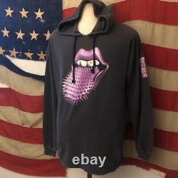 Vintage 90s The Rolling Stones Voodoo Lounge 1994 Hoodie T Shirt XL