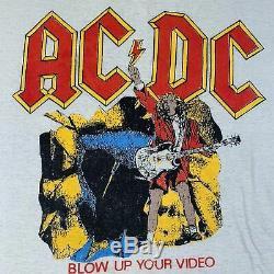 Vintage Acdc Blow Up Votre T-shirt Vidéo 1980 Guns N ' Roses Rolling Stones