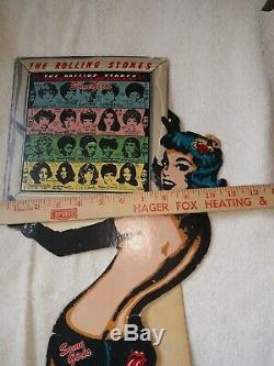Vintage Advertsing 1978 Rolling Stones Quelques De 19 Pouces Filles. Comptoir Affichage