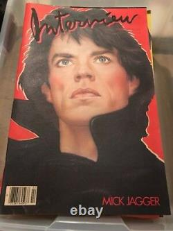 Vintage Andy Warhol Interview Magazine Février 1985 Mick Jagger Rolling Stones