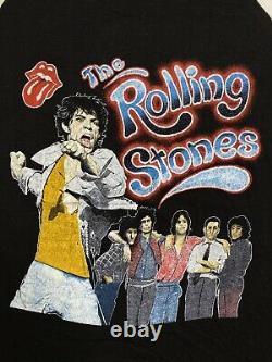 Vintage Années 80 The Rolling Stones Concert Tour Tattoo You 1981 Raglan Shirt L Rare
