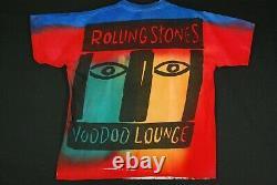 Vintage Années 90 The Rolling Stones Voodoo Lounge T Shirt Tie Dye T Shirt Hommes XL