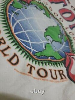 Vintage Brockum Rolling Stones Voodoo Lounge 1994 1995 World Tour Band Chemise L
