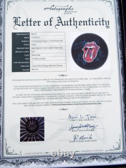 Vintage Les Rolling Stones Ont Signé Des Lettres Parche 2 Graphiques De Coa Rock