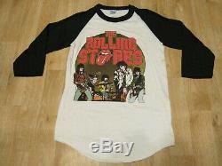Vintage Les Rolling Stones Shirt Raglan Années 1980 80s De Jagger Keith