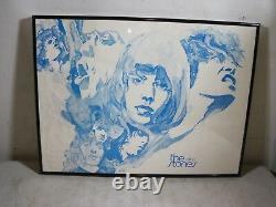Vintage Original Rare The Rolling Stones Encadré Poster