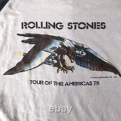 Vintage Original Rolling Stones Tour Of The Americas 1975 Rock T-shirt M/l