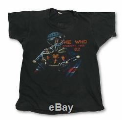 Vintage Qui Visite Américaine 82 T-shirt Sz L Les Rolling Stones Led Zeppelin