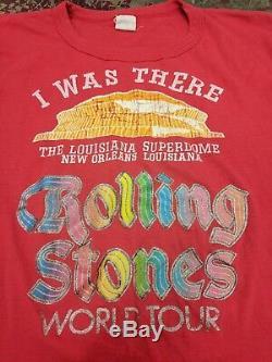 Vintage Rolling Stones 1970 T-shirt La Nouvelle-orléans