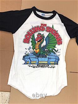 Vintage Rolling Stones 1981 Chemise De Tournée T-shirt Large L Band Rock N Roll Metal