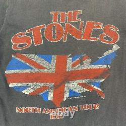 Vintage Rolling Stones 1981 North American Tour Lips T Shirt Original Vtg Taille M