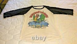 Vintage Rolling Stones 1981 T-shirt Dragon Vendu Tour Taille XL Rare