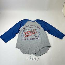 Vintage Rolling Stones 1981 World Tour Concert T-shirt Grand Texas Vendu Rare