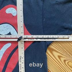 Vintage Rolling Stones 1989 Le T-shirt North American Tour Taille De L'étiquette XL #843