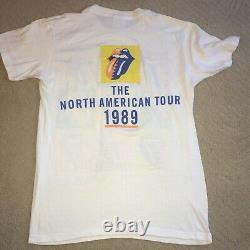 Vintage Rolling Stones 1989 The North American Tour Concert T Shirt L Etats-unis