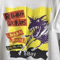 Vintage Rolling Stones 1990 Taille T-shirt Urban Jungle European Tour Hommes L