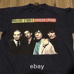 Vintage Rolling Stones 1994 Double Face Tournée Chemise Brockum Taille XL