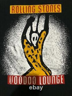 Vintage Rolling Stones 1994 Voodoo Lounge 2 Sided Rock Single Stitch T Shirt XL