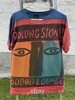 Vintage Rolling Stones 1994 Voodoo Lounge Tie Dye T Shirt Hommes XL