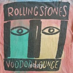 Vintage Rolling Stones 1994 Voodoo Lounge Tour 90s T-shirt Tie Dye Brockum XL