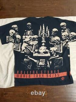 Vintage Rolling Stones 1994 Voodoo Lounge Tour T-shirt Taille XL