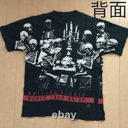 Vintage Rolling Stones 1994 Voodoo Lounge Tour T-shirt Taille XL F/s De Jpn
