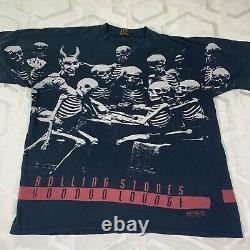 Vintage Rolling Stones 94/95 World Tour Voodoo Lounge All Over Imprimer T-shirt XL