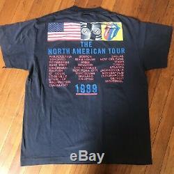 Vintage Rolling Stones Amérique Du Nord Tournée T-shirt Bande 1989