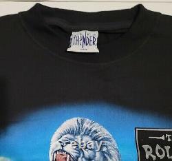 Vintage Rolling Stones Bridges To Babylon 1997 Europe Tour T-shirt Noir Grand