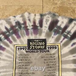 Vintage Rolling Stones Bridges To Babylon Tie Dye Tour T-shirt 1997 Taille XL