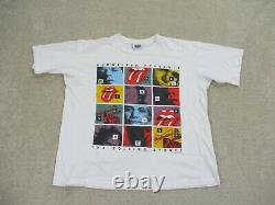 Vintage Rolling Stones Chemise Adulte Extra Grand Blanc Budweiser 1994 Concert Hommes