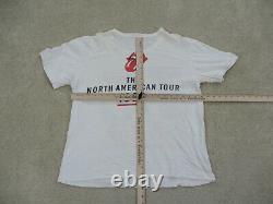 Vintage Rolling Stones Chemise Adulte Grand Blanc 1989 Tour Concert Rock Hommes 80s