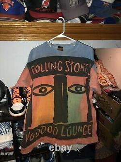 Vintage Rolling Stones Conce Tour Voodoo Lounge 1994 1995 Chemise Brockum Taille XL