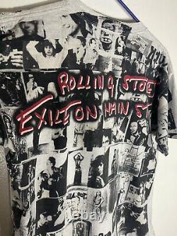 Vintage Rolling Stones Exil Sur Main St. All Over Shirt Lee Sports Large